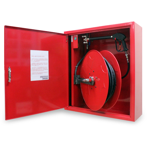 High pressure water mist fire hose reel cabinet